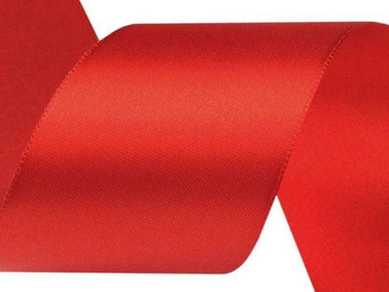 Kraftika 3m fiery red atlasová stuha svazky po 3m šíře 50mm