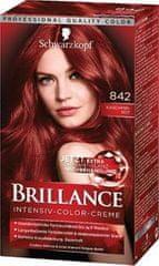 Schwarzkopf Brillance boja za kosu, 842 crveni kašmir