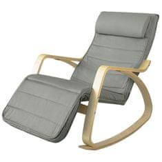 SoBuy FST16-DG houpací křeslo houpací křeslo relaxační křeslo nosnost 150 kg