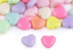 Kraftika 1sáček 1 mix srdce plastové korálky hvězda, srdce