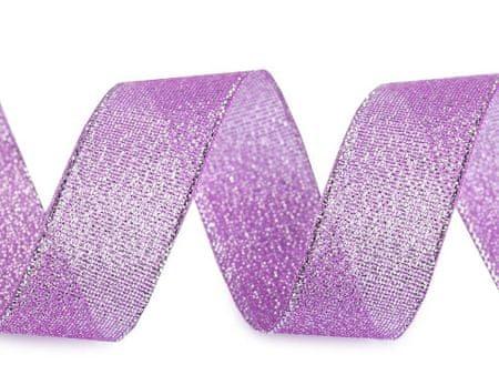 Kraftika 22.5m 5 fioletowy liliowy wstążka brokatowa paula szerokość