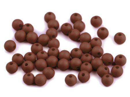 Kraftika 100szt (46) brązowy koraliki plastikowe matowe ø6mm, fimo