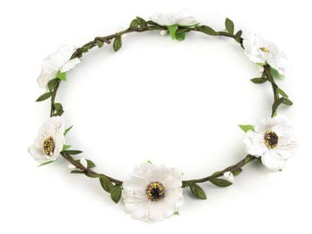 Kraftika 1db 1 fehér virág haj koszorú, kiegészítők, ékszerek