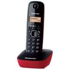 Panasonic KX TG1611 stacionarni telefon, crveni