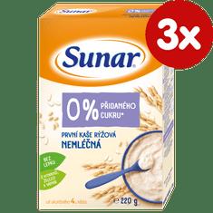 Sunar první kaše rýžová nemléčná (3x220g)