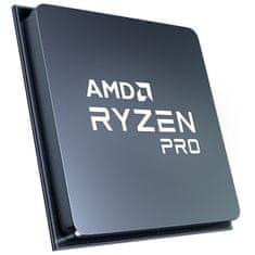 AMD Ryzen 7 PRO 4750G procesor, 8 jezgri, 16 niti, 65 W, Wraith Stealth hladilnik (100-100000145MPK)