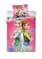 FARO Textil Detské obliečky Anna a Elsa 135x100 cm