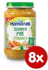 Hamánek Zeleninové pyré s pohankou 8x 190g