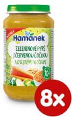 Hamánek Zeleninové pyré s čer.čočkou a ovesnými vločkami 8x 230g