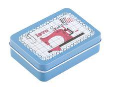 Kraftika 1ks 3 modrá nebeská plechová krabička na šití