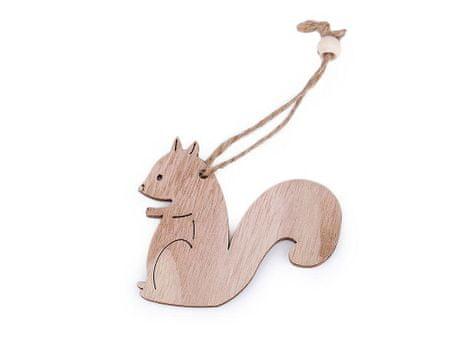 Kraftika 1bag 4 természetes barna mókus karácsonyi fa kivágott