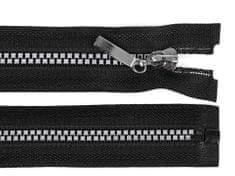 Kraftika 1ks (322) černá stříbrná kostěný zip šíře 5mm délka 40cm