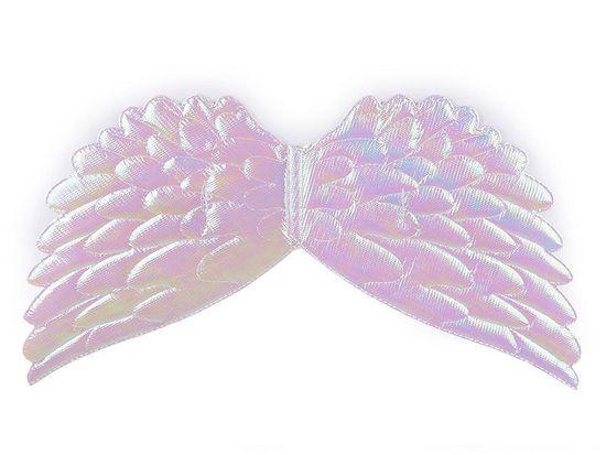 Kraftika 1ks bílá ab andělská křídla 22x44cm