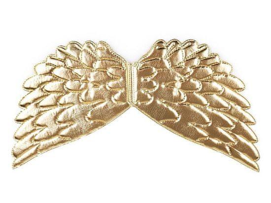 Kraftika 1ks zlatá andělská křídla 22x44cm