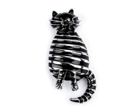 Kraftika 1db hiányzik macska bross, fém, üveg brossok, ékszerek