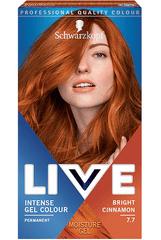 Schwarzkopf Live boja za kosu, 7.7 Bright Cinnamon