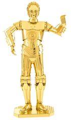 Metal Earth metalni model 3D puzzle Star Wars: C-3PO, zlato