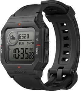 moderní chytré hodinky v retro stylu amazfit neo měření tepu kroků spálených kalorií monitoring spánku a celkového zdraví a kondice výdrž 28 dní na nabití voděodolné do hloubky 50 m příjemné na ruce upozornění na zprávy a volání vždy zapnutý displej