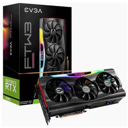 EVGA GeForce RTX 3080 FTW3 ULTRA GAMING grafična kartica, 10 GB GDDR6X, ARGB LED (10G-P5-3897-KR)