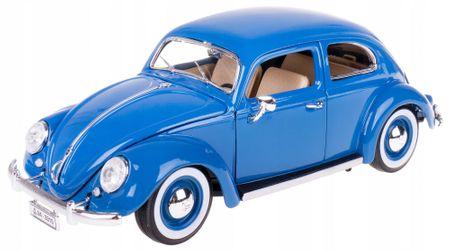 BBurago auto Volkswagen Beetle 1955 1:18, niebieski