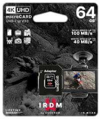 GoodRam IRDM spominska kartica microSDXC 64 GB, adapter