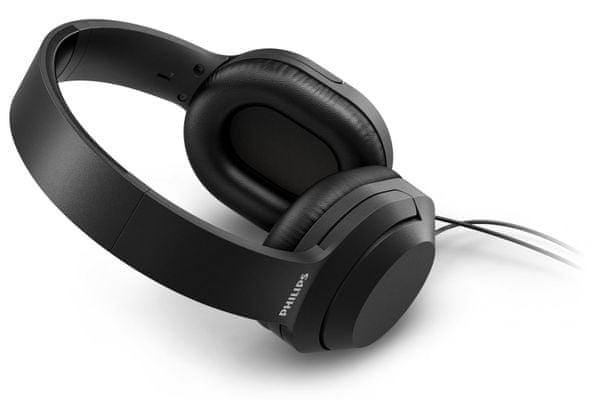 moderní elegantní drátová kabelová sluchátka philips tah2005 2m kabel nastavitelný hlavový oblouk 40mm neodymové měniče hifi zvuk