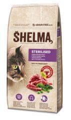 SHELMA Gabonamentes granulátum friss marhahússal és szuperélelmiszerekkel, 8 kg