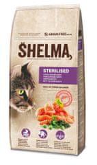 SHELMA Gabonamentes granulátum friss lazaccal és szuperélelmiszerekkel, 8 kg