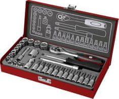 Fortum Kľúče nástrčné 1/4´´, 4-14mm, 31-dielna sada