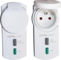 Extol Light Diaľkovo ovládané zásuvky, RF signal, 2ks, exteriérová