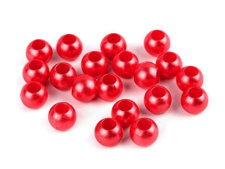 Kraftika 40szt jasnyczerwony koraliki plastikowe 8x10mm duży otwór