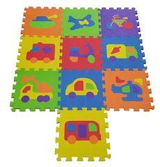 COSING EVA Puzzle podložka - Dopravné prostriedky 32x32x1 cm (10 ks)