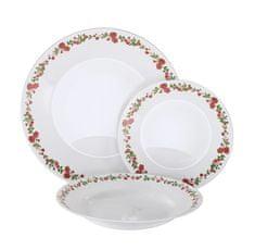 MAISON FORINE blagovaonski set s tanjurima Jessy, opal staklo C, 18-dijelni