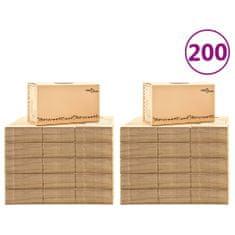 Kartónové krabice na sťahovanie XXL 200 ks 60x33x34 cm