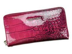 Gregorio Luxusní dámská kožená peněženka Gregorio berry, vínová