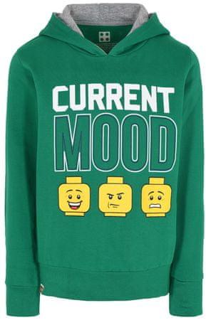 LEGO Wear fiú bebújós pulóver, 128, zöld