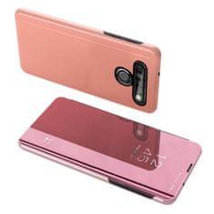 MG Clear View knížkové pouzdro na LG K61, růžové