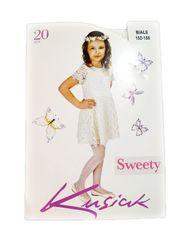 """Dievčenské silonky """"Sweety"""" 20 DEN - biela"""