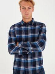 Blend modrá kostkovaná košile