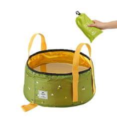 Naturehike skladacia nádoba na skladovanie/umývanie 10l 120g - zelená