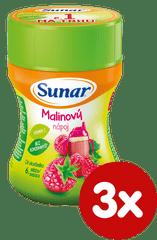 Sunar Instantní nápoj malinový, 3×200g