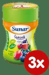 Sunar Instantní nápoj Dobré ráno, šípek-borůvka, 3×200g