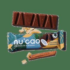 NUCAO Tyčinka ~ kokosovo-škoricová v čokoláde (40 g)