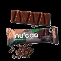 NUCAO Tyčinka ~ chrumkavé espresso v čokoláde (40 g)