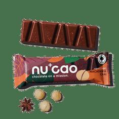 NUCAO Tyčinka ~ čoko-makadamiová s chai korením (40 g)