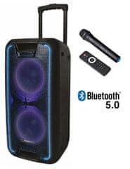 Manta SPK5027 Nerio PRO karaoke zvočni sistem, Bluetooth 5.0, vgrajena baterija, 5000 W P.M.P.O, TWS