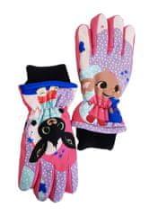 """SETINO Dievčenské lyžiarské rukavice """"Bing"""" - ružová"""