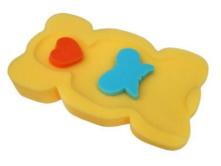Tega Baby Babafürdető szivacs az UNI KOLOR kádhoz - sárga