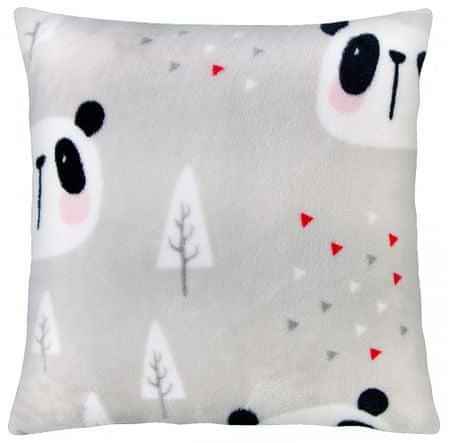 My Best Home poduszka z mikrofibry CUTE ANIMALS panda 40x40 cm