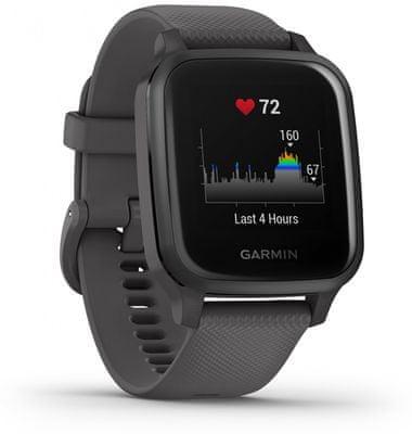 Inteligentné hodinky Garmin VENU SQ, LCD displej, smart watch, pokročilé, zdravotné funkcie, tep, dych, menštruačný cyklus, pitný režim, metabolizmus, kalórie, vzdialenosti, kroky, aktivita, odpočinok, spánok, plávanie, vodoodolnosť 5 ATM
